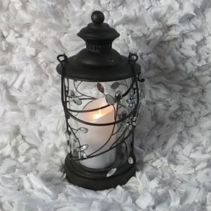Pier 1imports Lantern crystal/brown candles holder